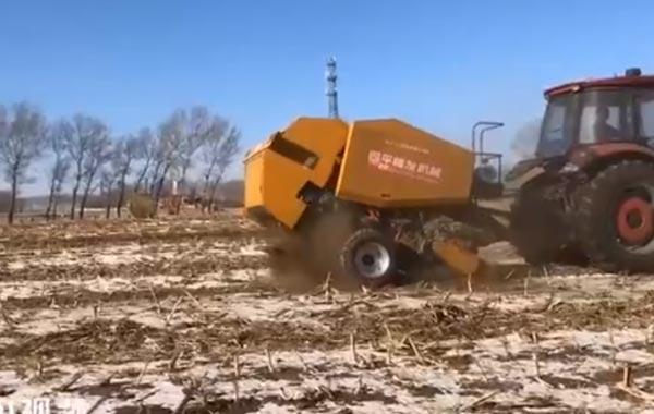 视频工作:四平隆发机械9YJ-1.3圆包打捆机